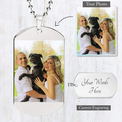 Love Tag - Custom Photo Engraved Dog Tag (Color)