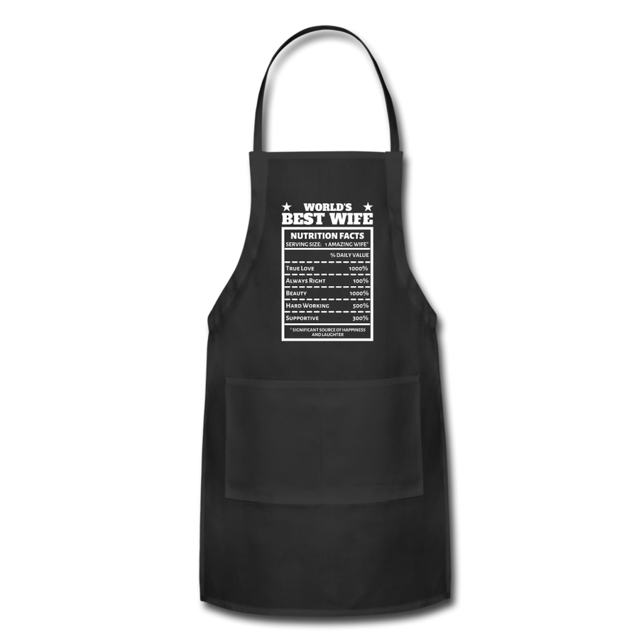 "World's Best Wife - ""Nutrition Facts"" Adjustable Apron"