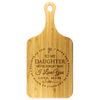 "Mum To Daughter - ""I Believe In You"" Engraved Cutting & Serving Board"
