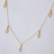 Gold Moonstone Charm Necklace