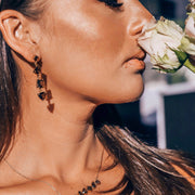Simone Watson Jewellery Collection Beautiful and bold, our cascade drop earrings feature four uniquely cut semiprecious stones that create an eye-catching and unique look