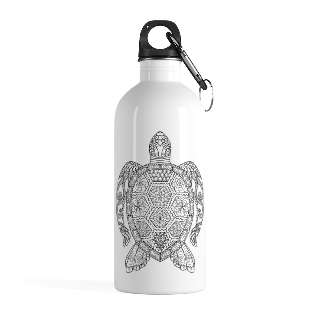 Mosaic Turtle Stainless Steel Water Bottle