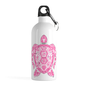 Mosaic Pink Turtle Stainless Steel Water Bottle