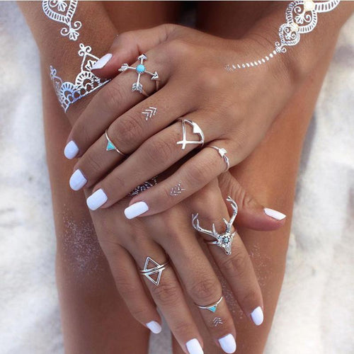 BOHEMIAN SET OF 7 Rings