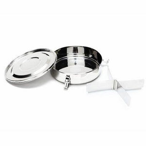 stainless steel food container with dividers, high grade 18/10 ss, onyx stainless steel