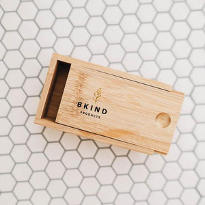 bkind beauty products, bamboo travel case, shampoo and conditioner bar bamboo case,
