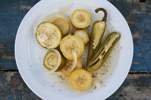A Pickled Zucchini & Squash