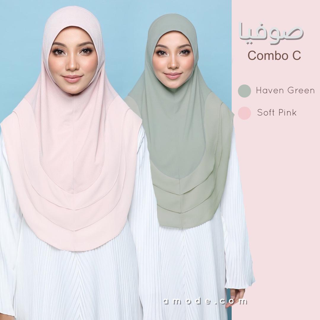 Sophea - COMBO Set C (Haven Green and Soft Pink)