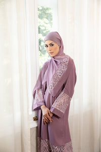 Calanthe Abaya - Dusty Purple