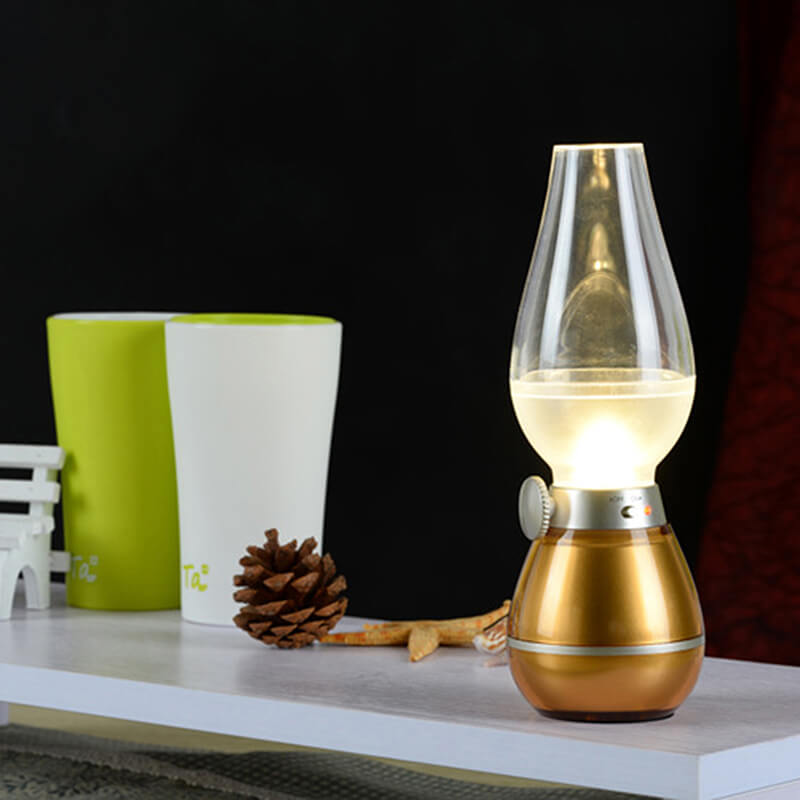 Desk Lamp With Blowing Control - Gold