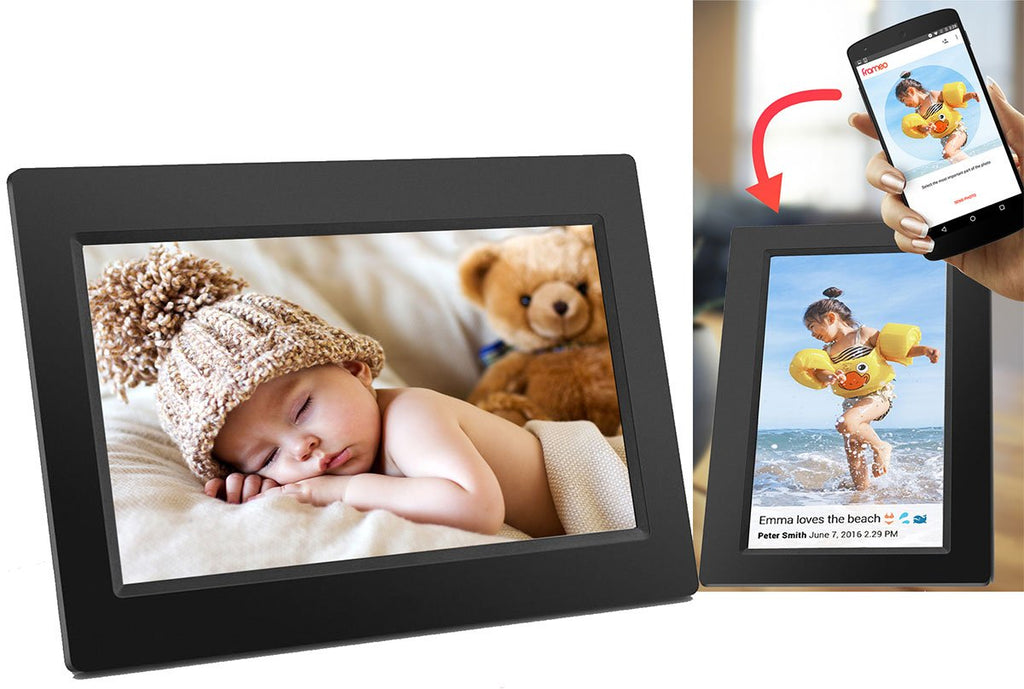 Digital Photo Frame  7 Inch, iPhone & Android App, 8GB Storage And SD Card Back Up