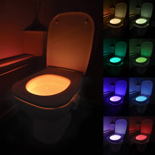 Load image into Gallery viewer, LED Motion-Activated Toilet Bowl Night Light