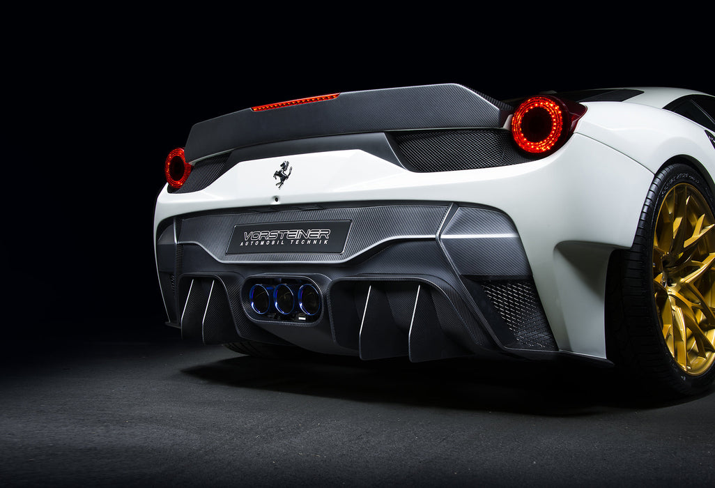 Vorsteiner Ferrari 458-VX Aero Rear Bumper with Rear Diffuser Carbon Fiber (incl. Exhaust Tips)