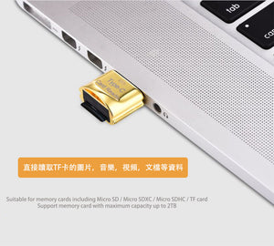 【2件】USB 3.1 Type C 讀卡器 TF Card Micro SD SDXC SDHC 迷你讀卡器