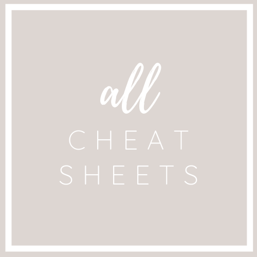 All Cheat Sheets Bundle