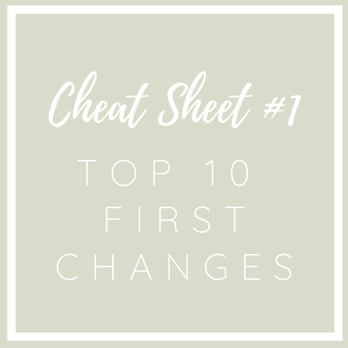 #1 Cheat Sheet: 1st Top 10 Products To Begin Making Better Choices