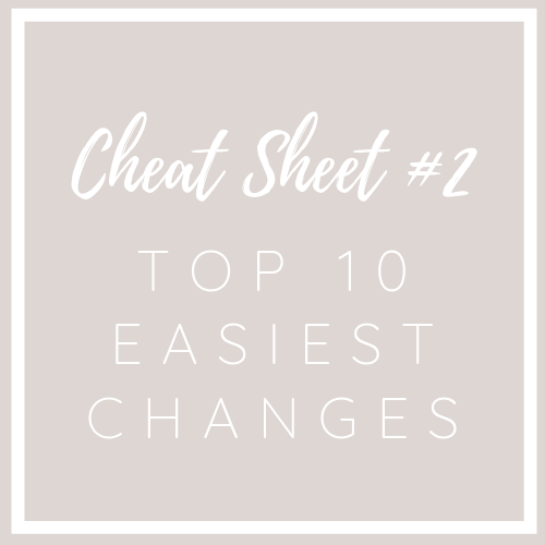 #2 Cheat Sheet: 10 Easiest Grocery Shopping Changes