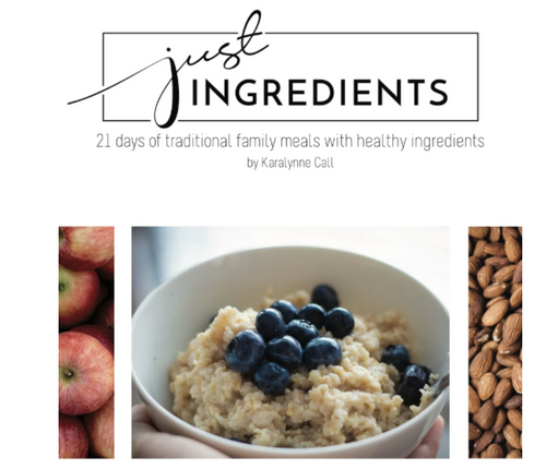 Just Ingredients Digital Download Cookbook: 21 Days of Meals