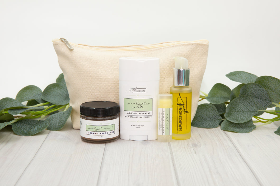 Eucalyptus Mint Collection Set with Carry Bag