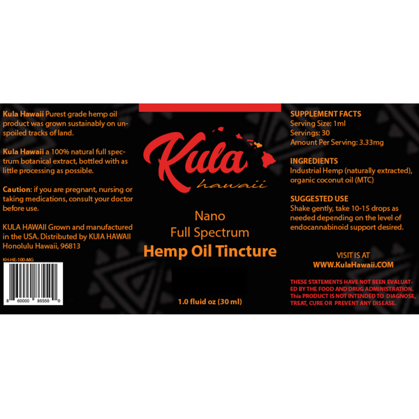 Nano Full Spectrum Oil - Kula Hawai'i