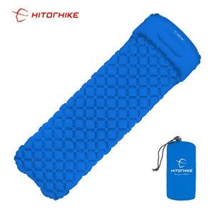 Light inflatable mattress with pillow