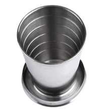 Load image into Gallery viewer, 1Pc 75ml Stainless Steel Camping Folding Cup