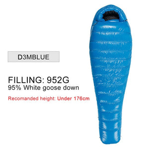 AEGISMAX Camping Ultralight Mummy 90% Duck Down Sleeping Bag