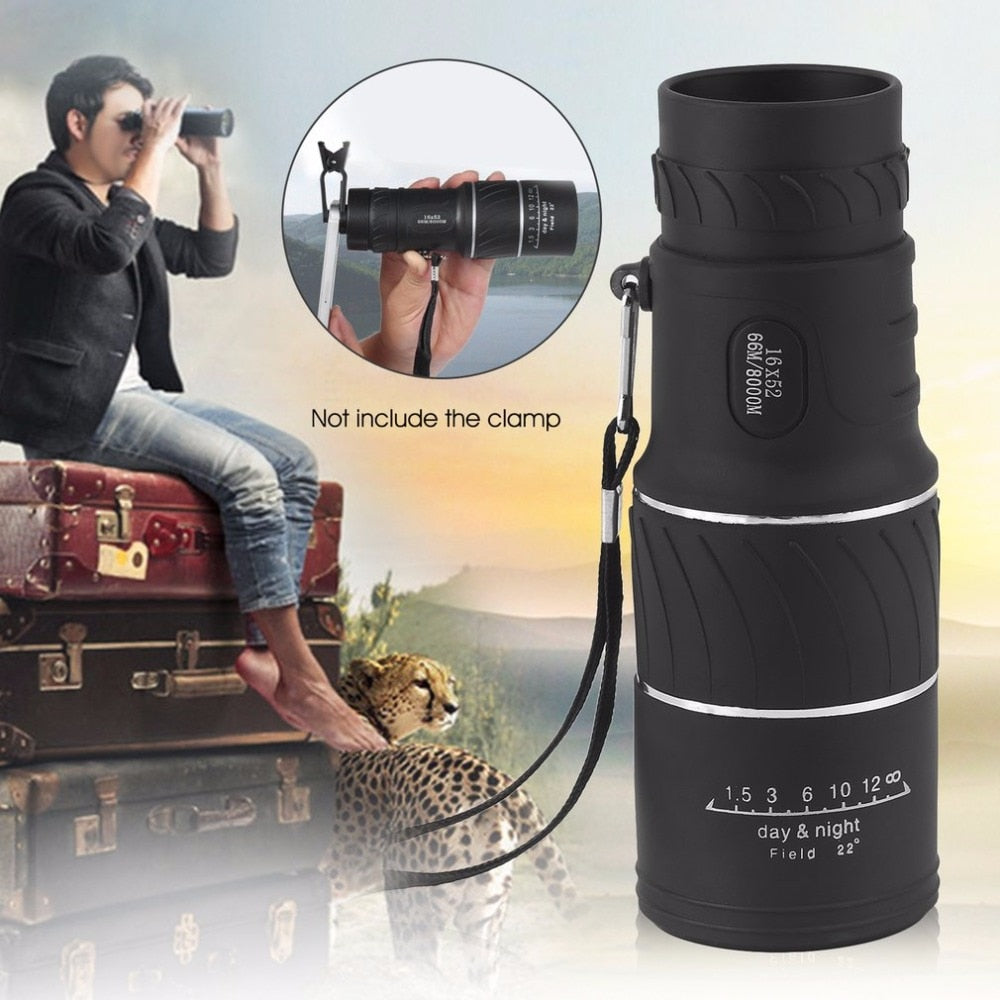 16x52 High Definition Compact Monocular Zoom Telescope