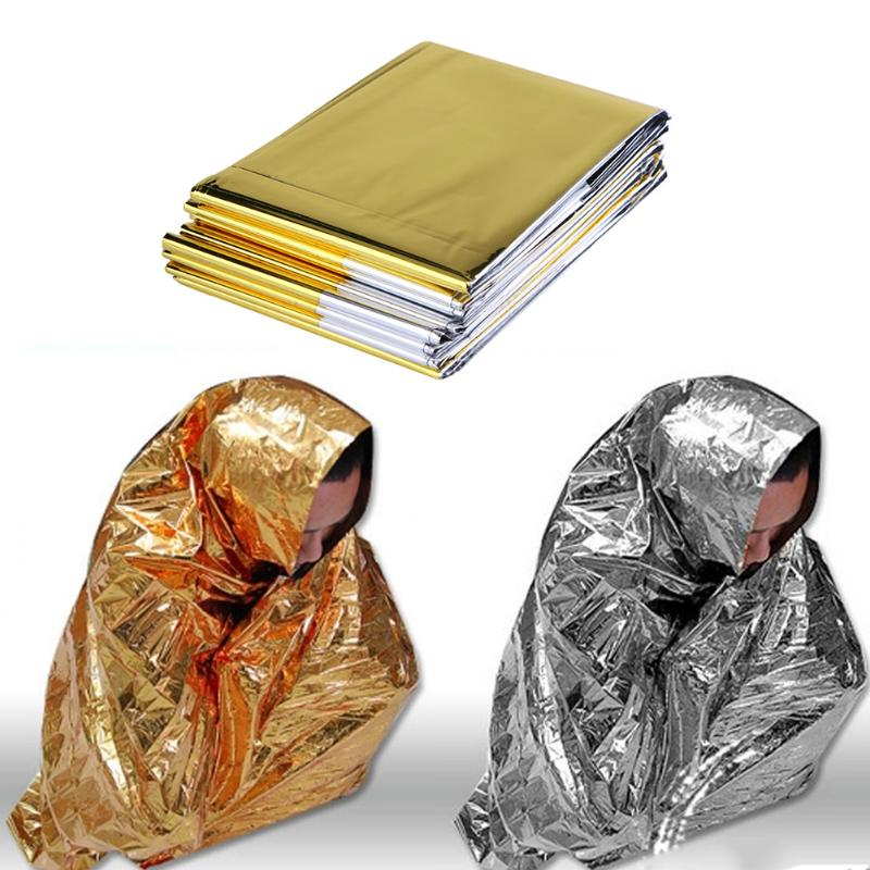 Survival Waterproof Emergency  Foil Thermal Rescue Blanket