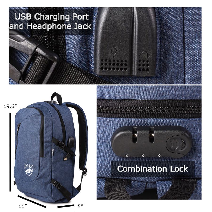 Krhino Smart Lock Bulletproof Backpack *Blue - Krhino Ballistic Backpack Bulletproof backpack