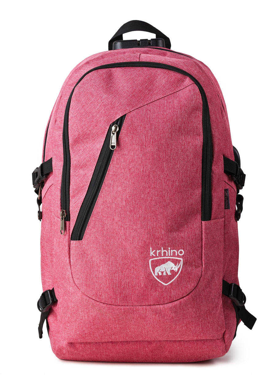 Krhino Smart Lock Bulletproof Backpack *Pink - Krhino Ballistic Backpack