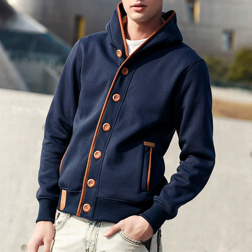 Stylish Sweatshirt with Buttons