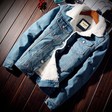 Load image into Gallery viewer, Warm Denim Jacket