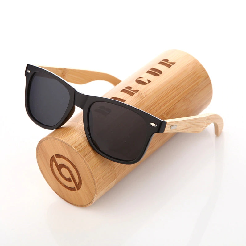 Bamboo Sunglasses - MAROON SCARF - men's clothing
