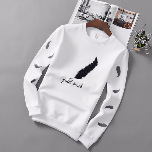 Leaf-Patterned Sweatshirt