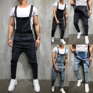 Jeans Jumpsuit - MAROON SCARF - men's clothing