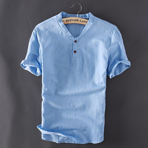 Linen Summer Shirt (2 buttons)