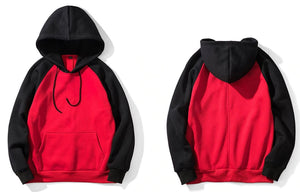 Hip Hop Streetwear Hoodie - MAROON SCARF - men's clothing