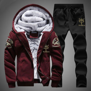 Winter Track Suit - MAROON SCARF - men's clothing