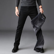Load image into Gallery viewer, Black Winter Jeans - MAROON SCARF - men's clothing