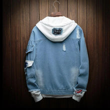 Load image into Gallery viewer, Hooded Denim Jacket