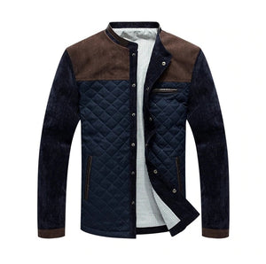 Quilted Spring Jacket - MAROON SCARF - men's clothing