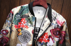 Japanese-style Bomber - MAROON SCARF - men's clothing