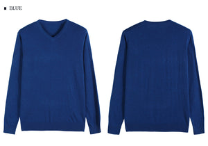 Knitted V-Collar Pullover, 14 colors