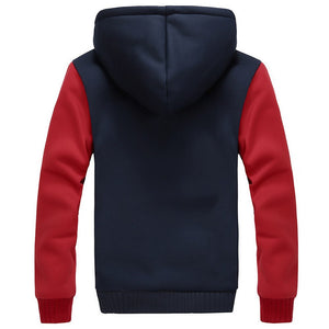 Warm hooded jacket - MAROON SCARF - men's clothing