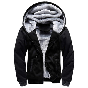 Warm hooded jacket