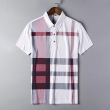 Load image into Gallery viewer, Plaid Polo Shirt - MAROON SCARF - men's clothing