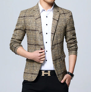 Checkered Casual Blazer
