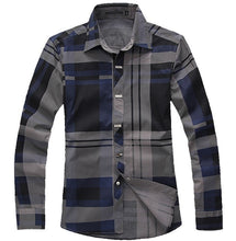 Load image into Gallery viewer, Slim Fit Plaid Shirt