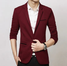 Load image into Gallery viewer, Slim Fit Blazer - MAROON SCARF - men's clothing